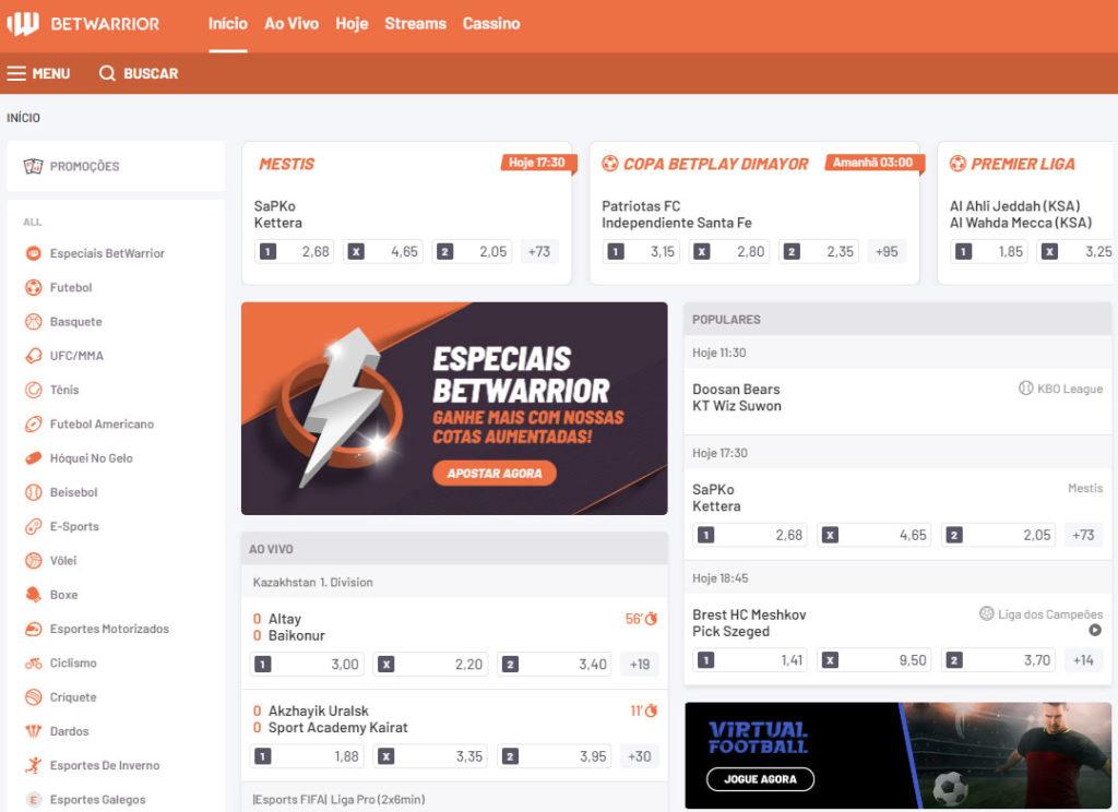 Betwarrior Website