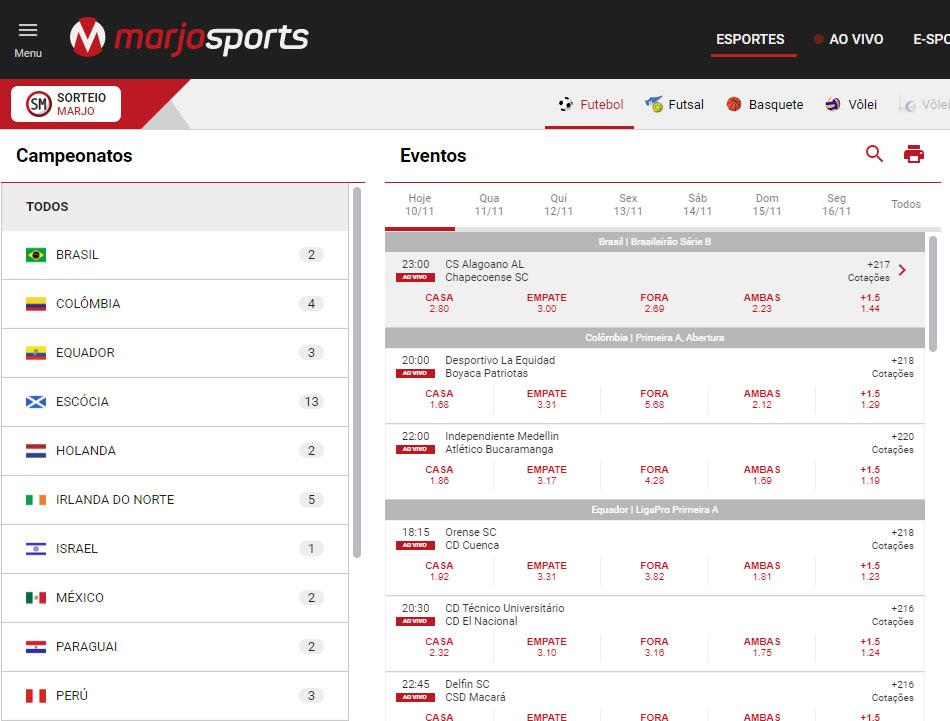 MarjoSports Website