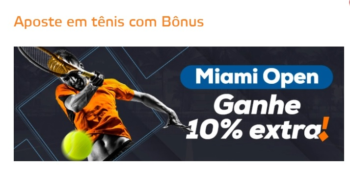 Promoção Miami Open - Betmotion Brasil
