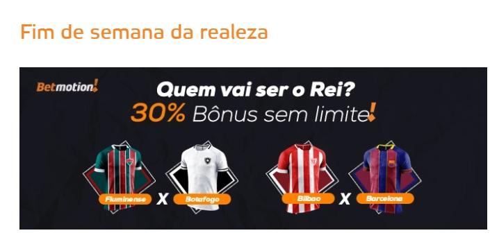 Betmotion Brasil - Bônus de 30% sem limite