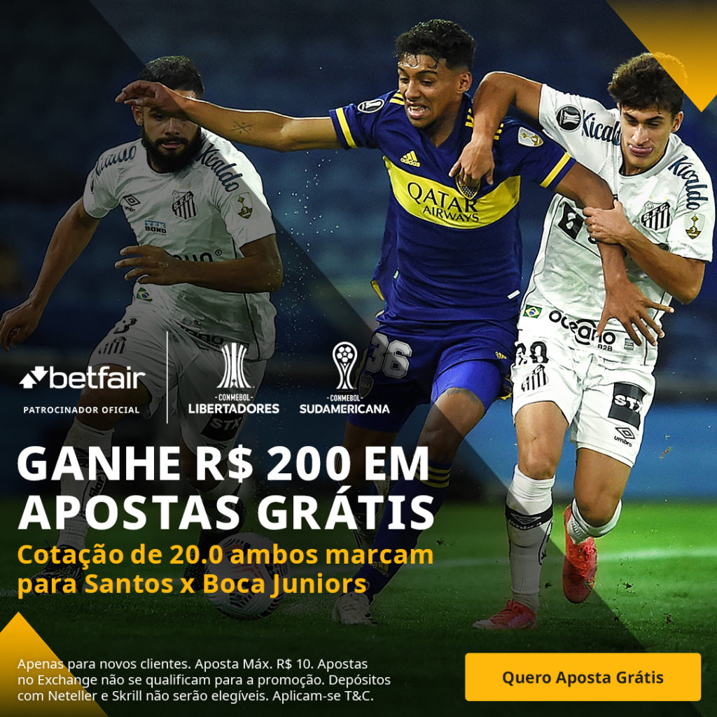 Betfair Super Preço - Santos x Boca Juniors