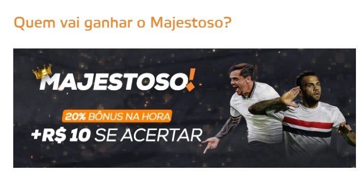 Betmotion Brasil - promoção Corinthians x São Paulo