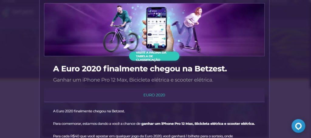Betzest Brasil - promoção Euro 2020