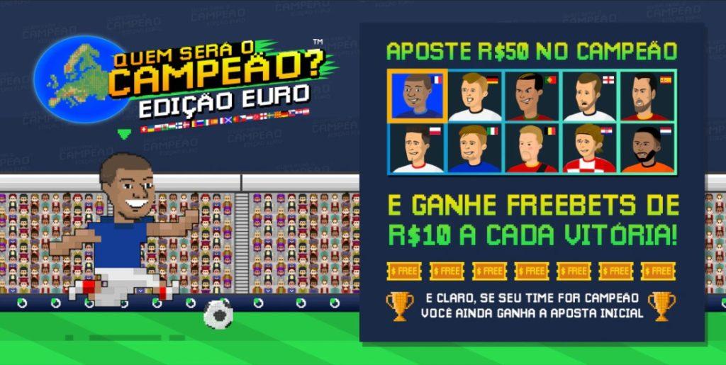 Sportbet.io - promoção campeão da Euro