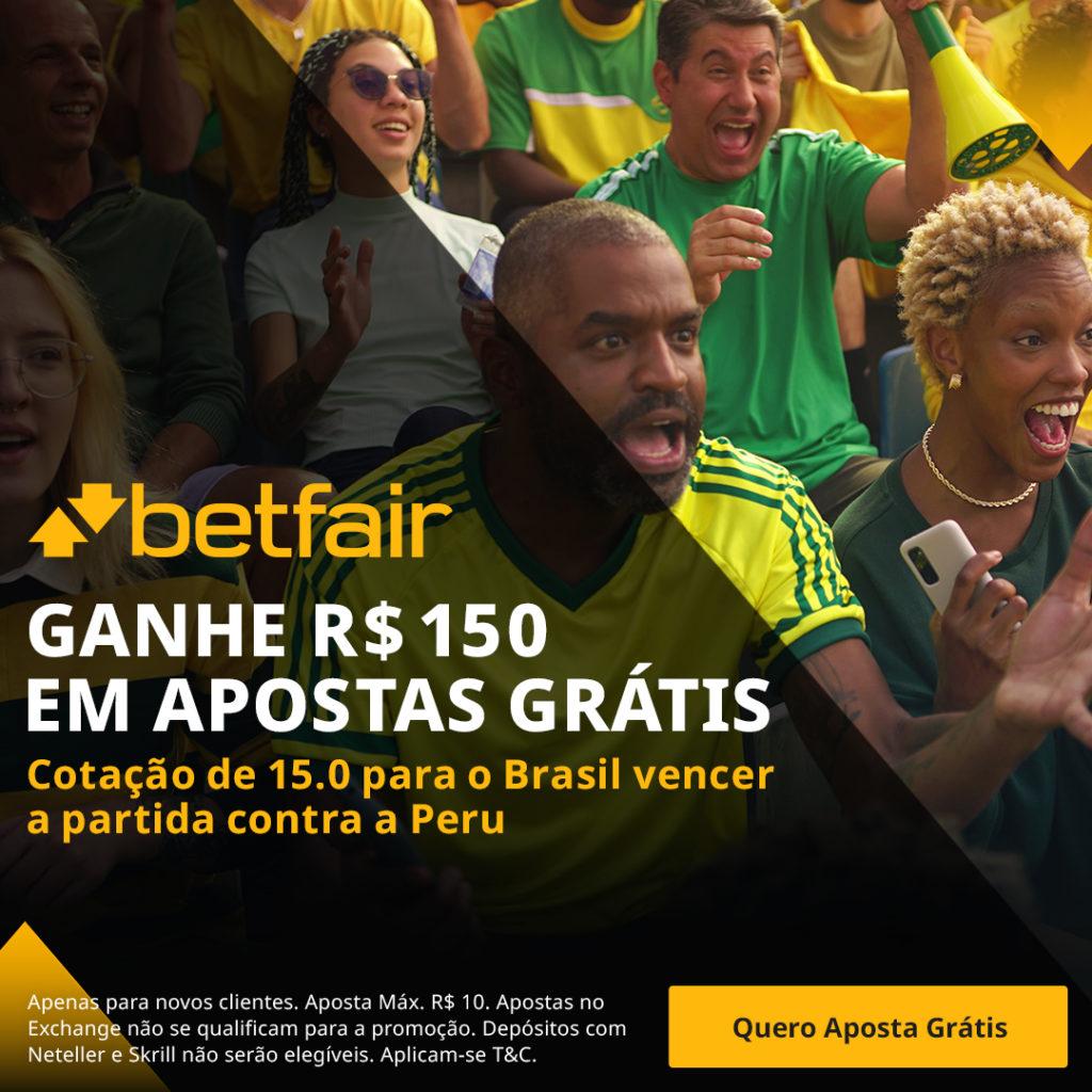 Promoção Betfair Brasil x Peru