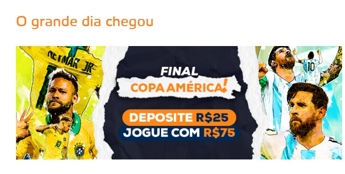Betmotion Brasil - bônus final Copa América 2021