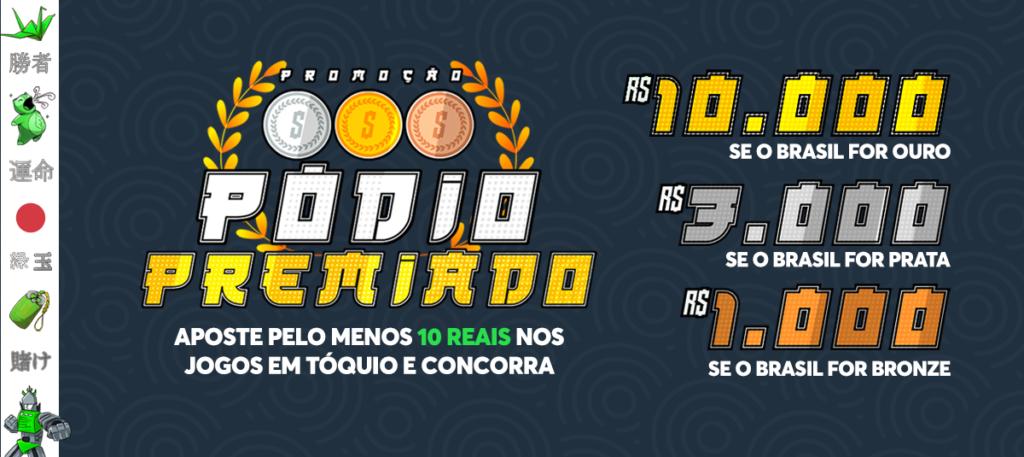 Sportsbet.io Brasil - Promoção Pódio Premiado
