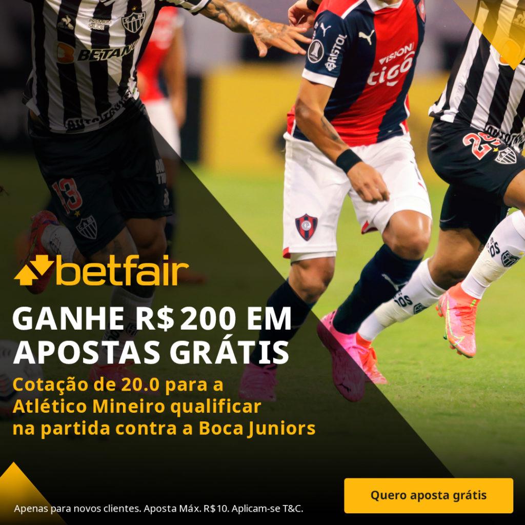 Promoção Betfair Atlético-MG x Boca Junior