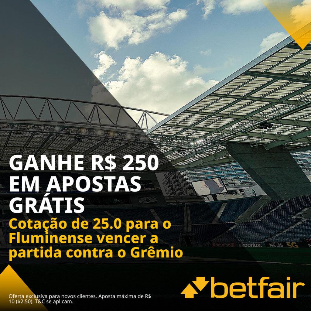 Promoção Betfair Fluminense x Gremio