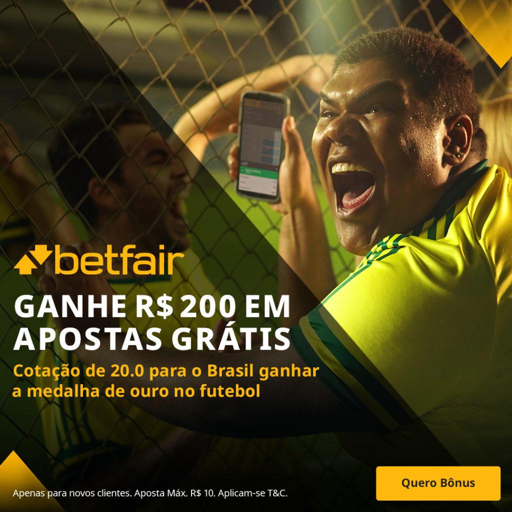 Betfair Super Preço - Brasil ouro olímpico furebol