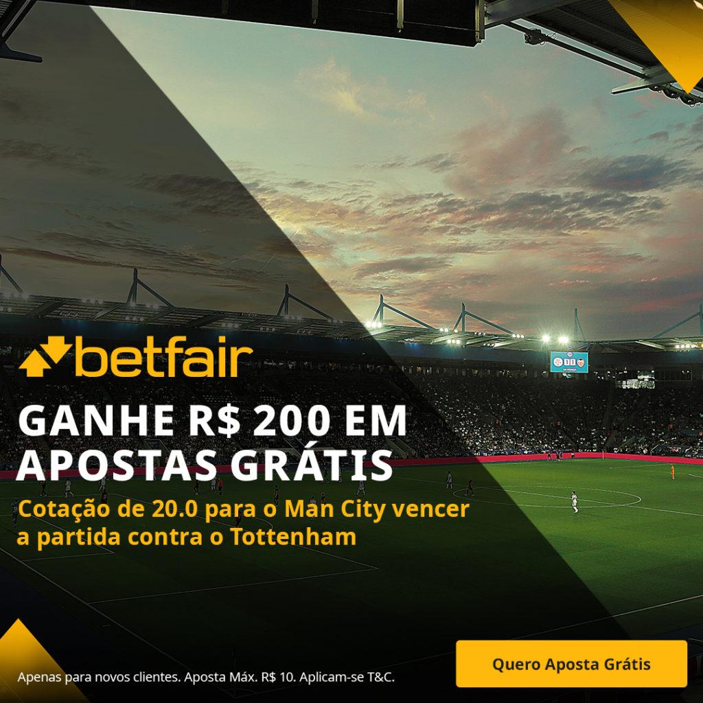 Betfair Super Preço - Manchester City para vencer o Tottenham
