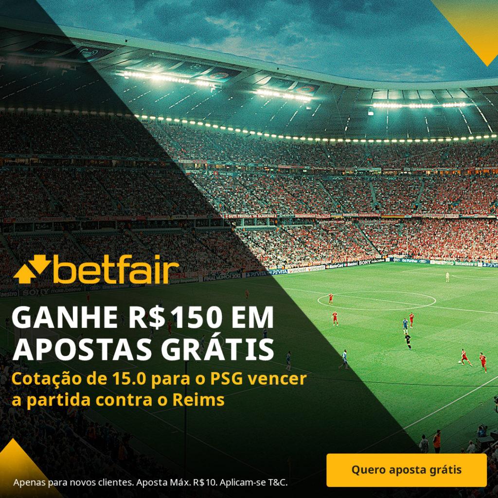 Betfair Super Preço - PSG vencer o Reims