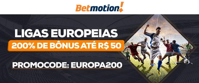 Promoção Betmotion Campeonatos na Europa
