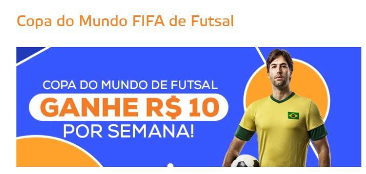 Betmotion Brasil - bônus Copa do Mundo de Futsal