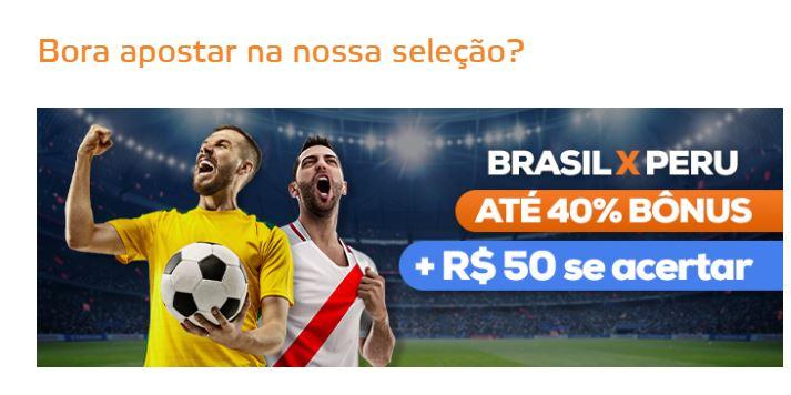 Betmotion Brasil - Brasil x Peru promoção