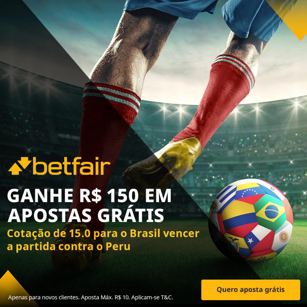 Betfair Super Preço - Brasil x Peru