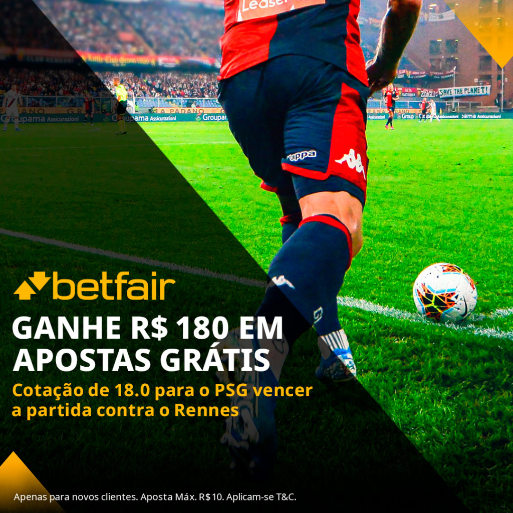 Betfair Super Preço - PSG vencer o Rennes