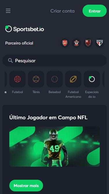 Sportsbet.io Plataforma de Aposta