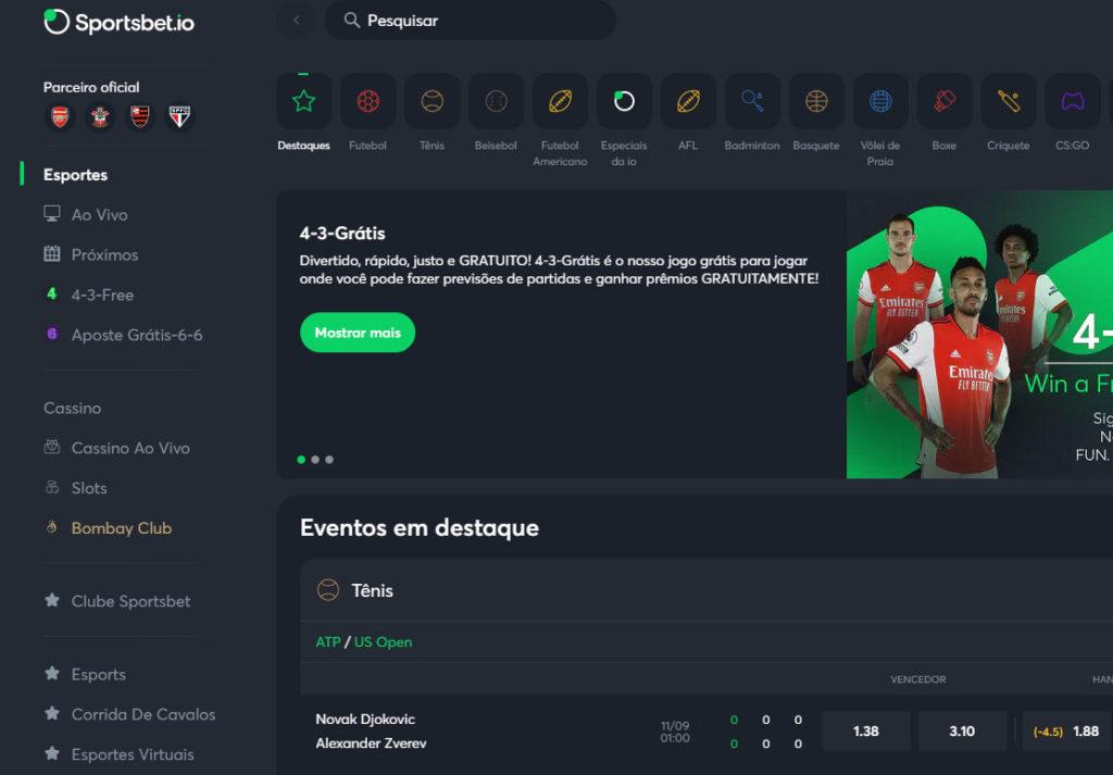 Sportsbet.io Website