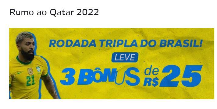 Betmotion Brasil - Bônus de R$25 para jogos da Seleção Brasileira
