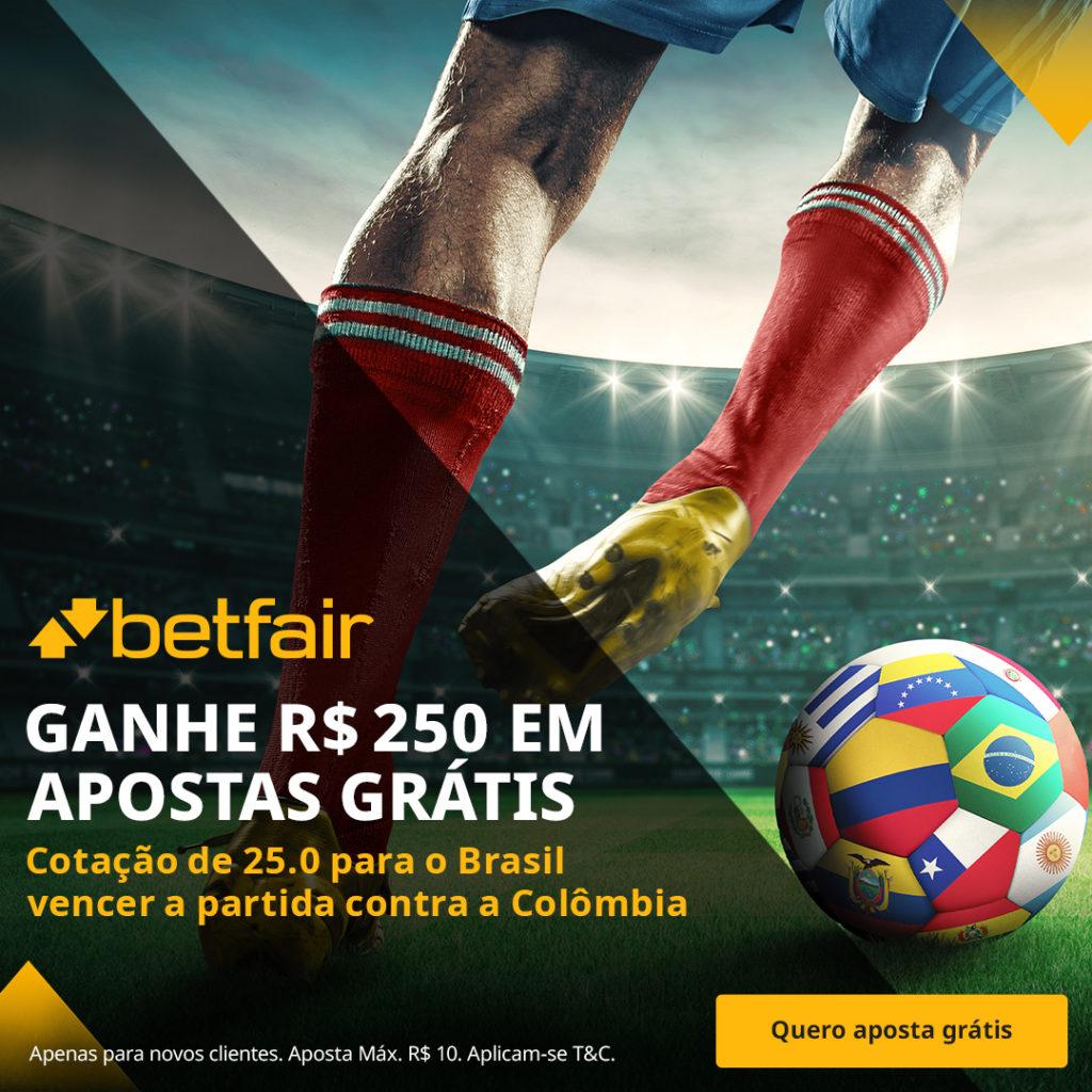 Betfair Super Preço - Brasil x Colômbia