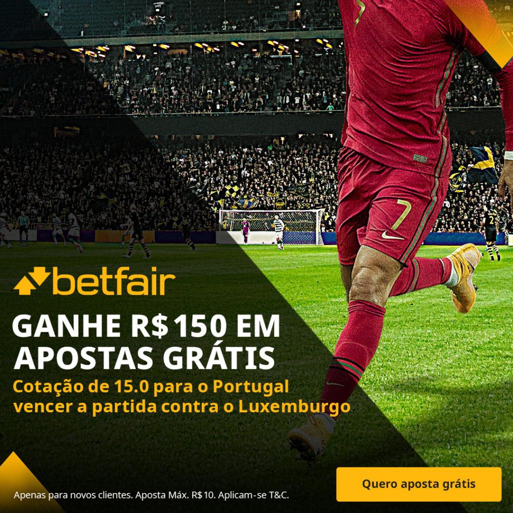 Betfair Super Preço - Portugal x Luxemburgo